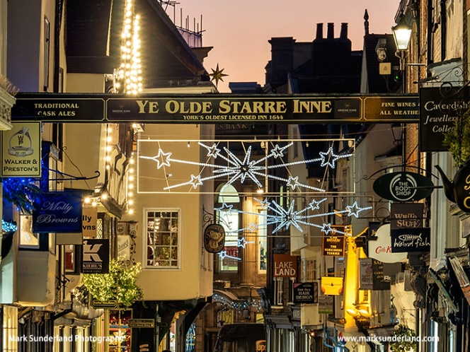 Stonegate in York at Christmas