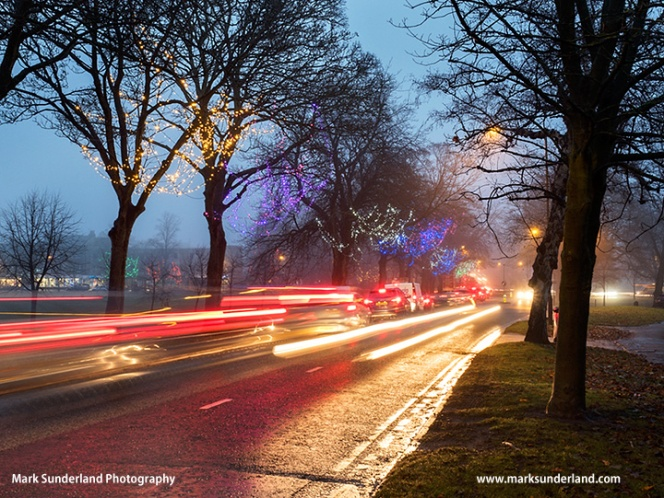 Traffic Trails and Fairy Lights at Harrogate