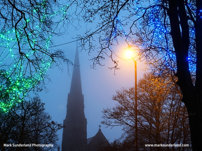 Church Spire in the Mist at Harrogate