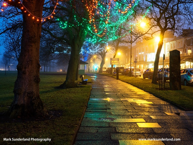 Fairy Lights on West Park in Harrogate
