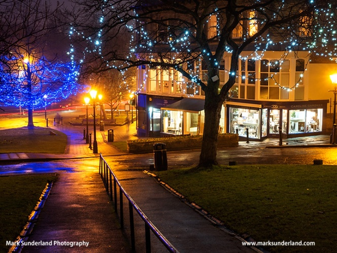 Fairy Lights in Trees on Montpellier Hill at Harrogate
