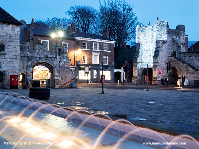 Bootham Bar and Exhibition Square at Christmas