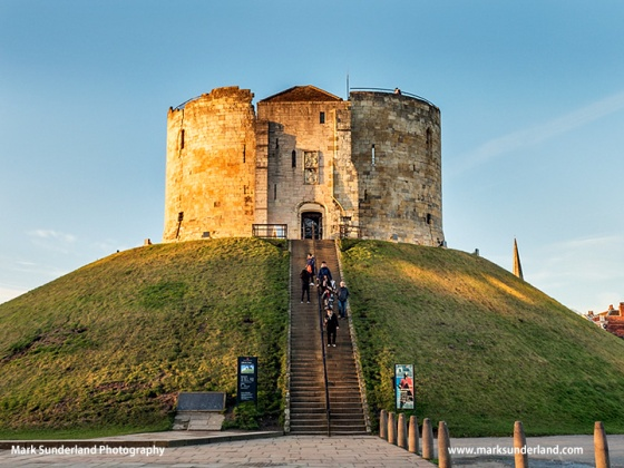 Cliffords Tower at Sunset City of York Yorkshire England
