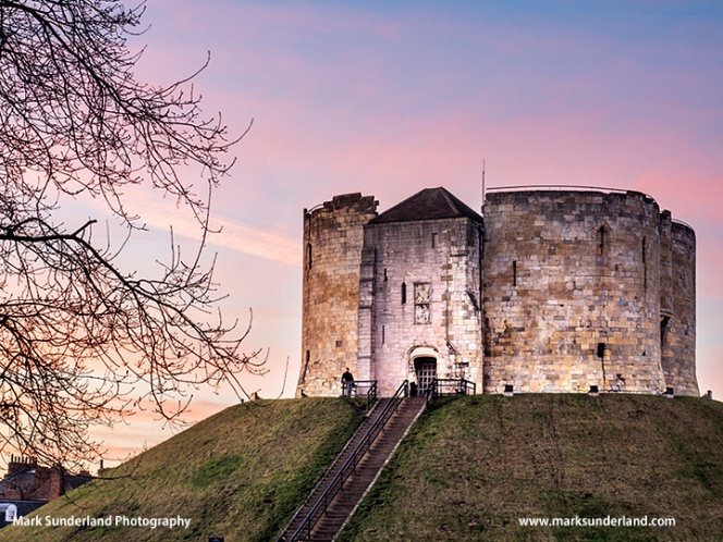 Cliffords Tower at Dusk York