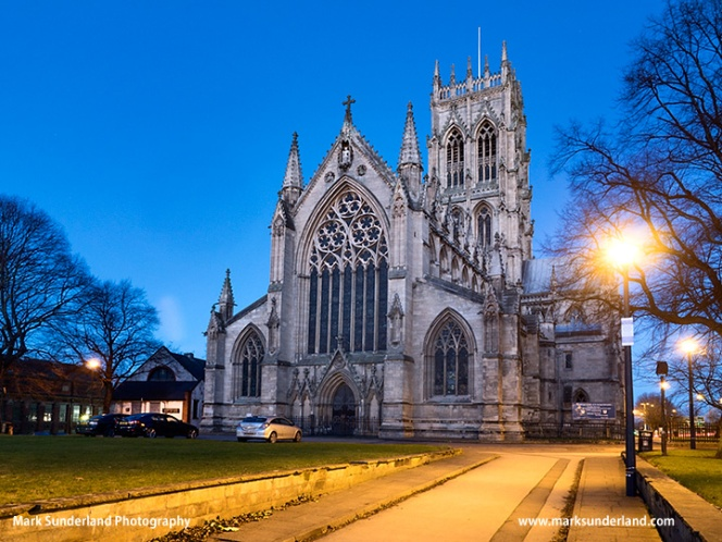 Doncaster Minster at Dusk