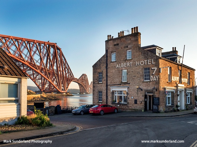 Forth Bridge and Albert Hotel at North Queensferry