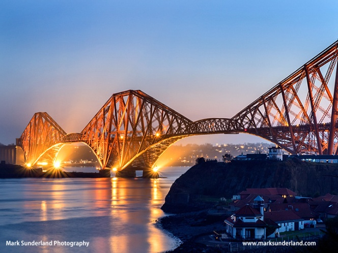 Forth Bridge at Dusk North Queensferry