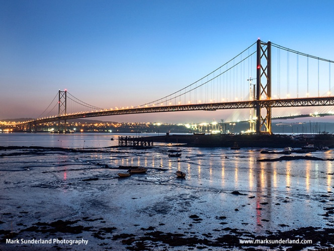 Forth Road Bridge at Dusk