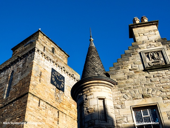 Clock Tower at Kirkcaldy Old Kirk and Building on Kirk Wynd Kirkcaldy Fife Scotland