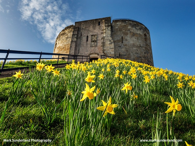 Cliffords Tower in Spring