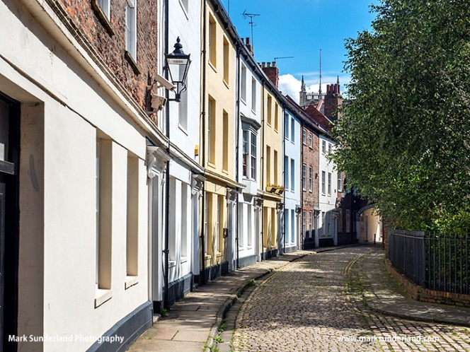 Prince Street in the Old Town in Hull