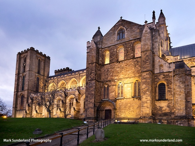 Ripon Cathedral at Dusk