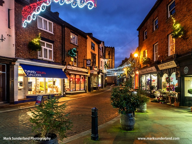 Kirkgate at Christmas in Ripon