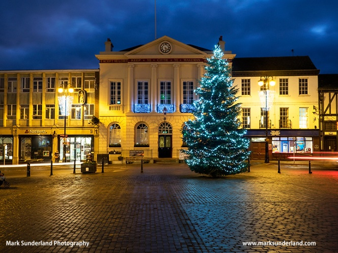 Ripon City Hall at Christmas