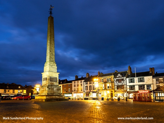 Ripon Market Place at Dusk