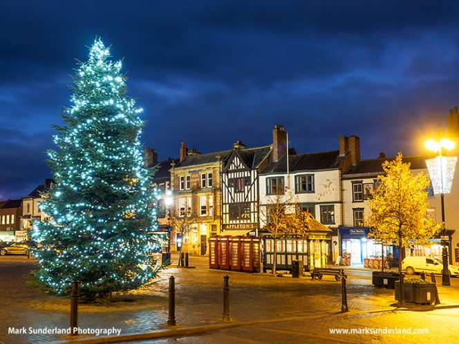 Ripon Market Place at Christmas