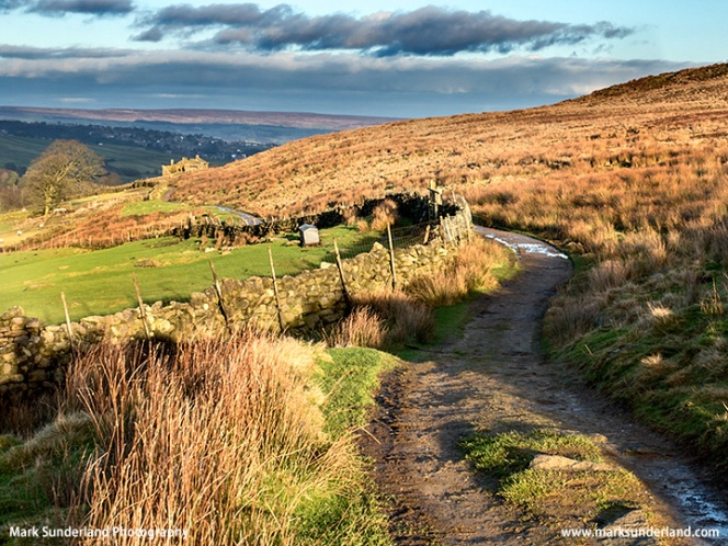 The Bronte Way on Haworth Moor