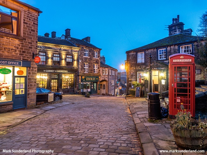 Haworth Main Street at Dusk