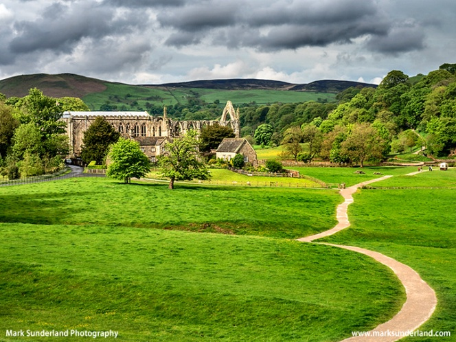 Bolton Priory Ruins in Spring