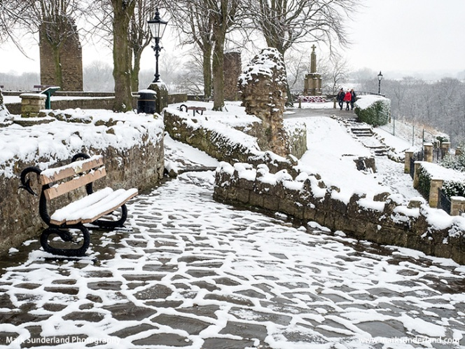 Knaresborough Castle in the Snow