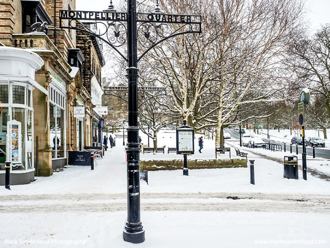The Montpellier Quarter at Harrogate in Winter