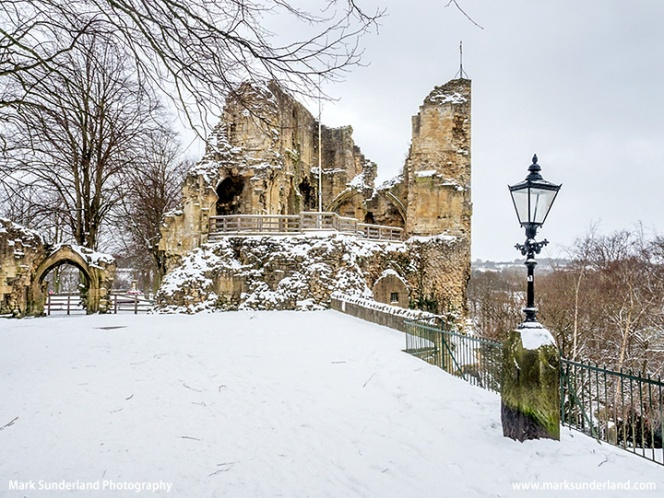 Knaresborough Castle in Winter