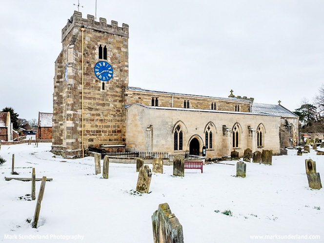 St Andrews Church at Aldborough in Winter