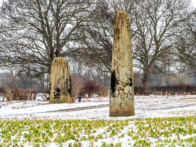 The Devils Arrows in Winter at Boroughbridge