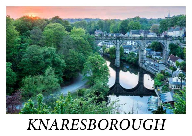 Knaresborough Viaduct at Sunset