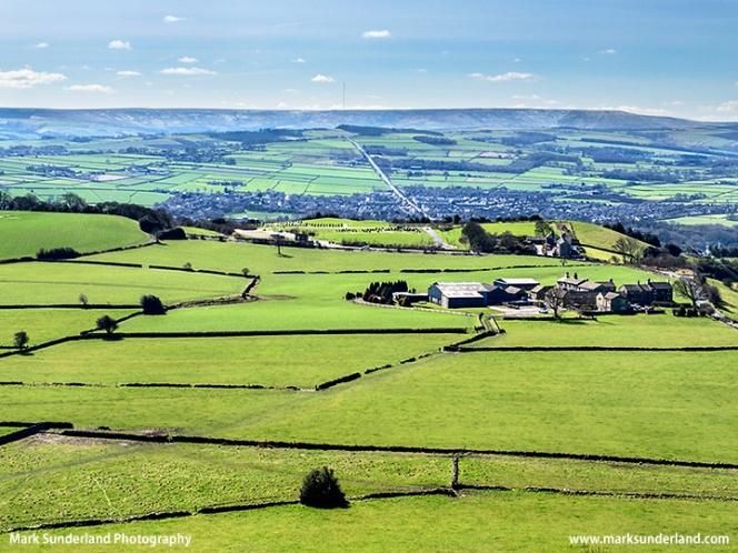 View over the Holme Valley near Huddersfield