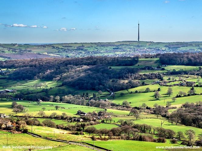 Emley Moor Transmitter from Castle Hill Huddersfield