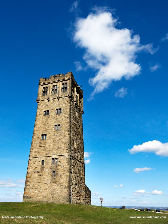 Victoria Tower on Castle Hill near Huddersfield