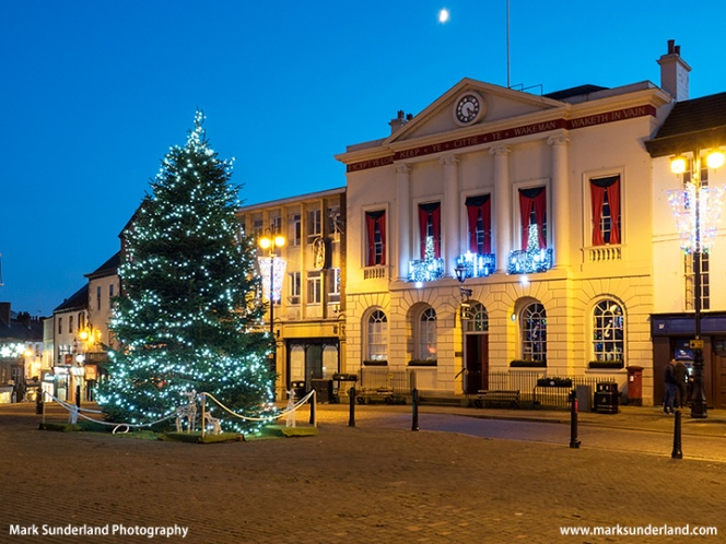 Ripon Town Hall at Christmas