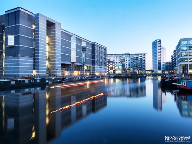 Leeds Dock at Dusk