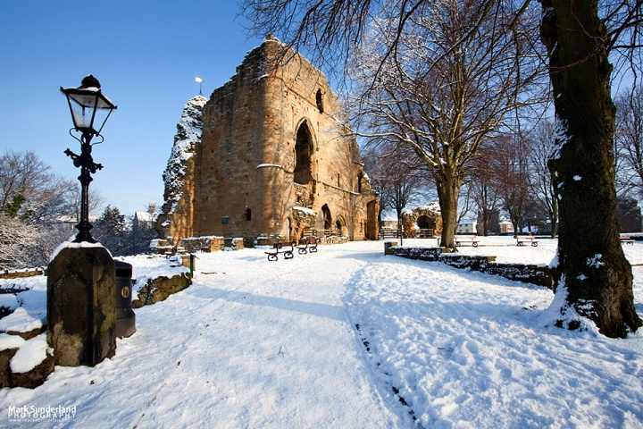 The Kings Tower at Knaresborough Castle in the Snow
