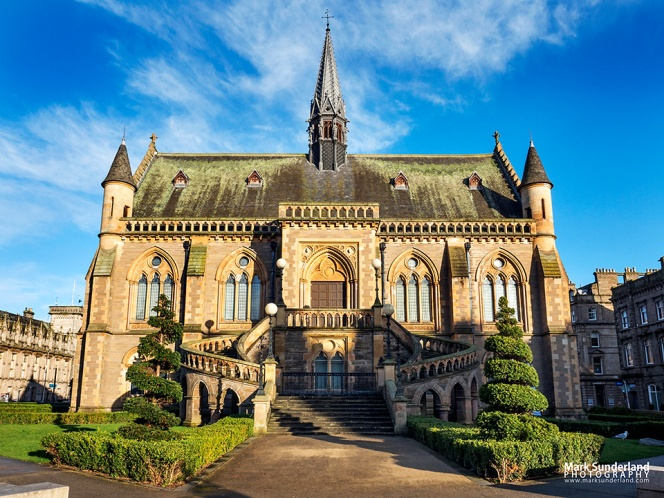 The McManus Gallery art gallery and museum in a fine George Gilbert Scott gothic revival buiding in Dundee Scotland