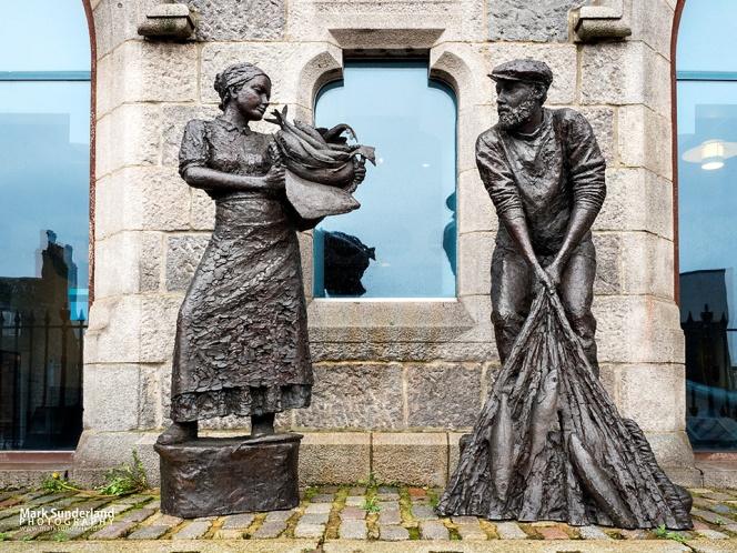 Aberdeen Fishing Industry Memorial at Aberdeen Maritime Museum on Shiprow, Aberdeen