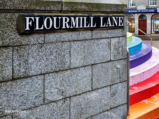Rainbow Steps in Aberdeen