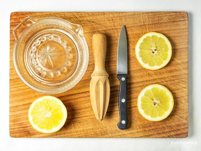 Lemons flat lay still life