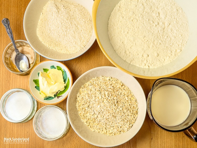 Ingredients for Oat Bread