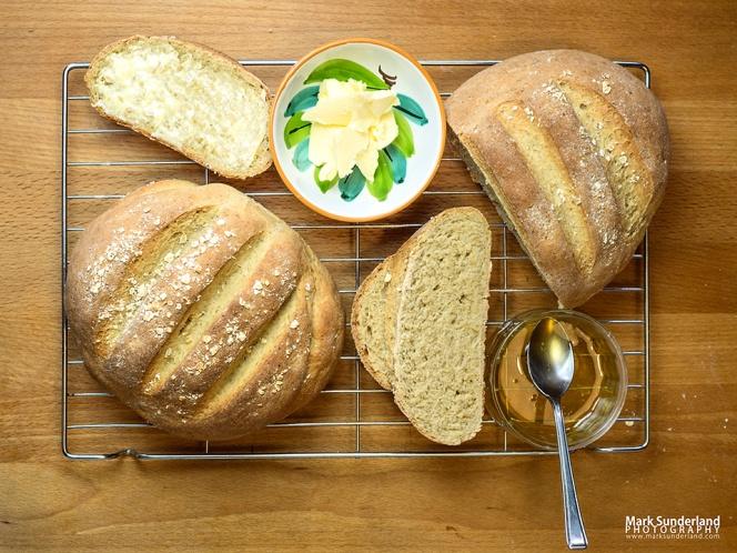 Freshly Baked Oat Bread