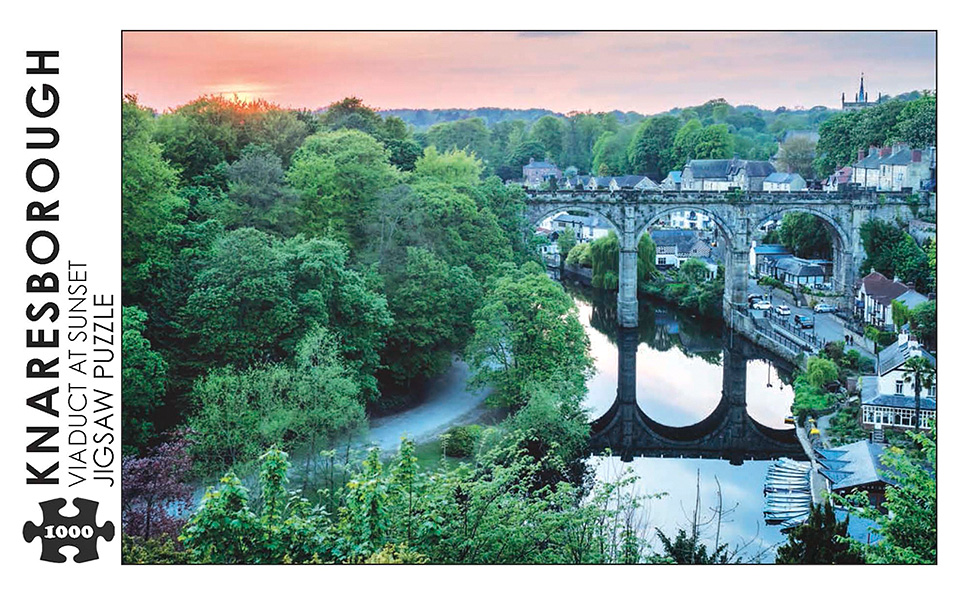 Knaresborough Viaduct at Sunset Jigsaw Puzzle